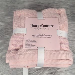 🆕 Juicy Couture Pink Washcloth 4-Pack